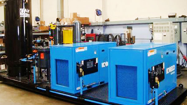 industrial air compressor fabrication